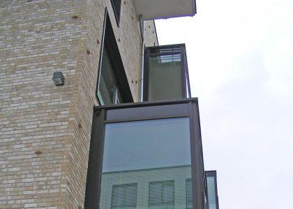 Vorgesetzte Balkone Fassade Bremen